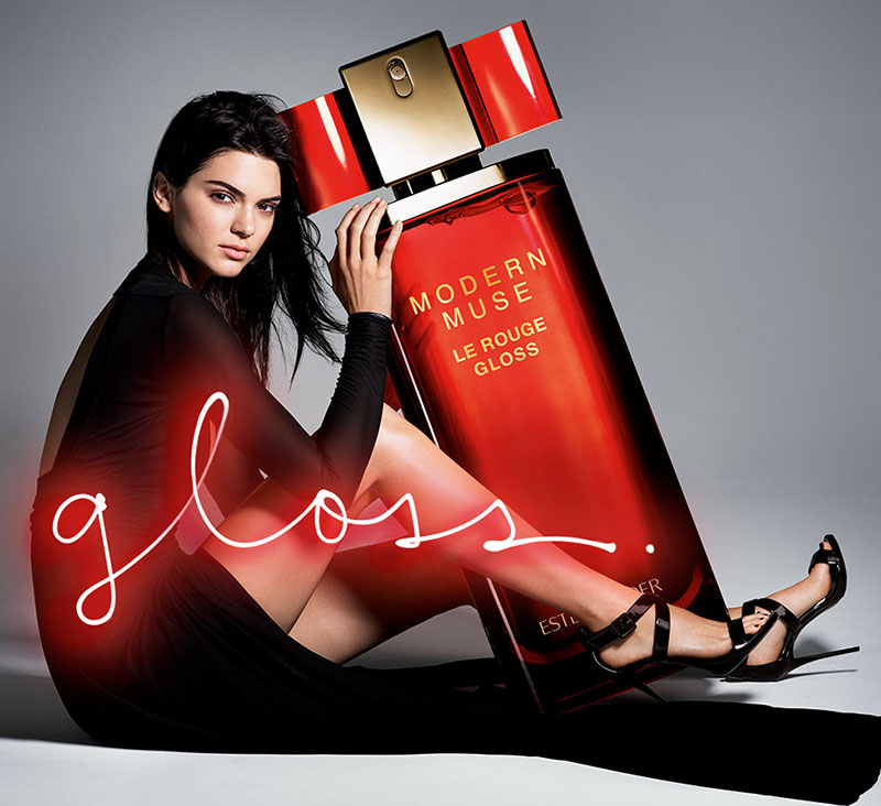 Kendall Jenner stars in Estee Lauder's Modern Muse Le Rouge Gloss Perfume campaign
