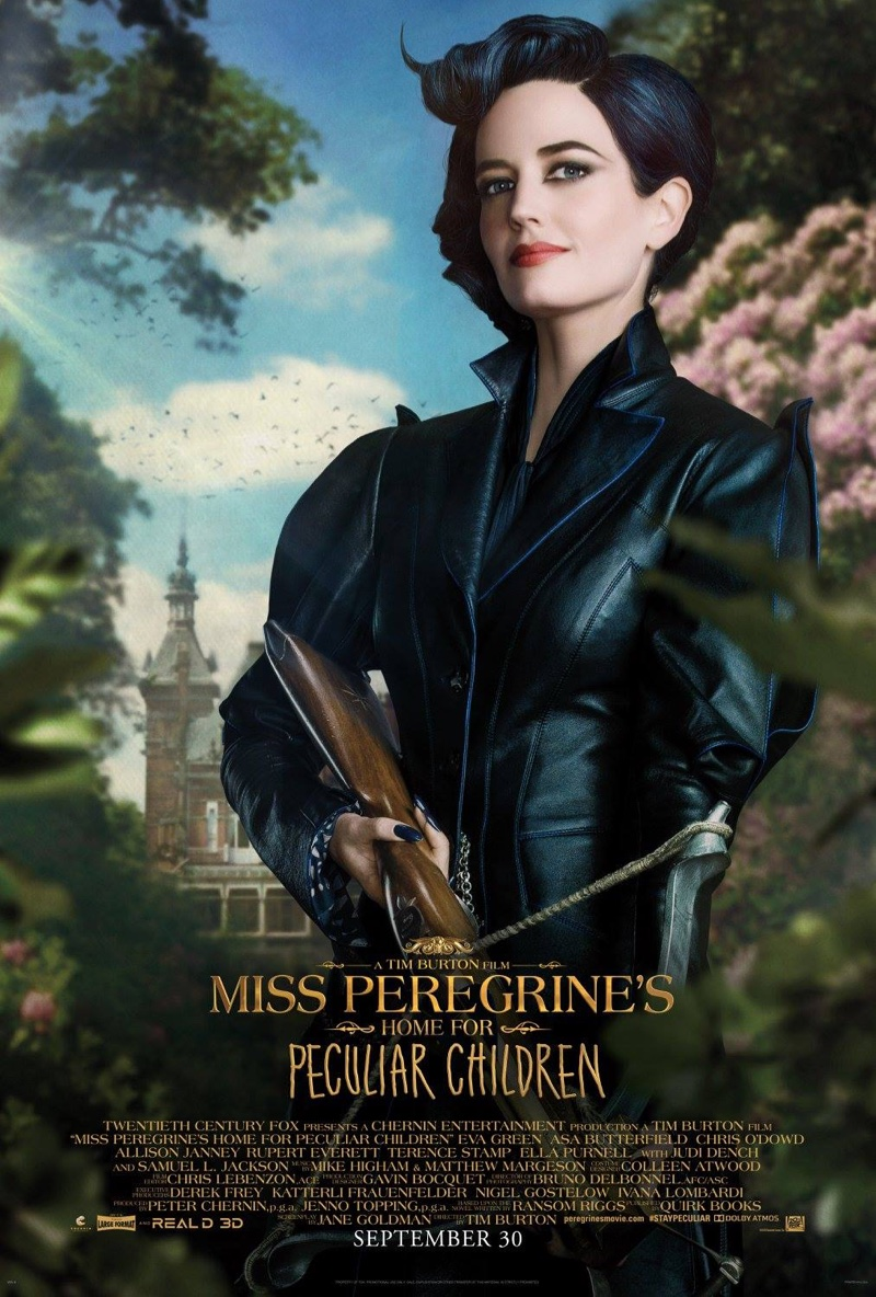 Eva Green on Miss Peregrine's Home for Peculiar Children poster