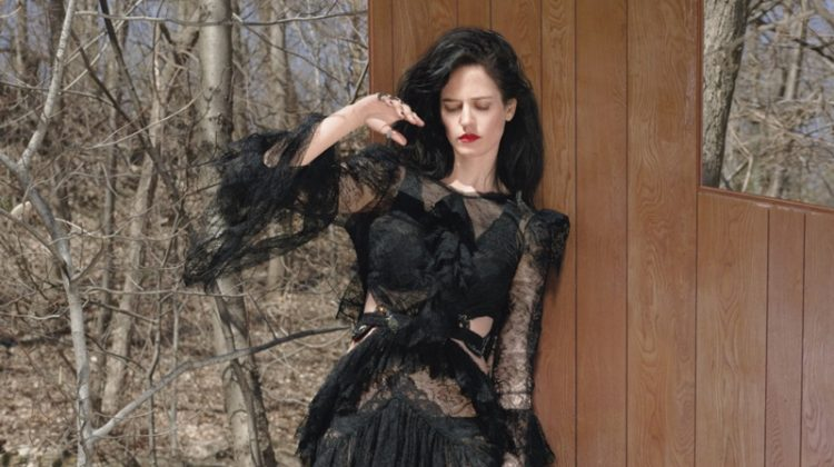 45b838be88cb Eva Green Channels Gothic Glamour in W Cover Story