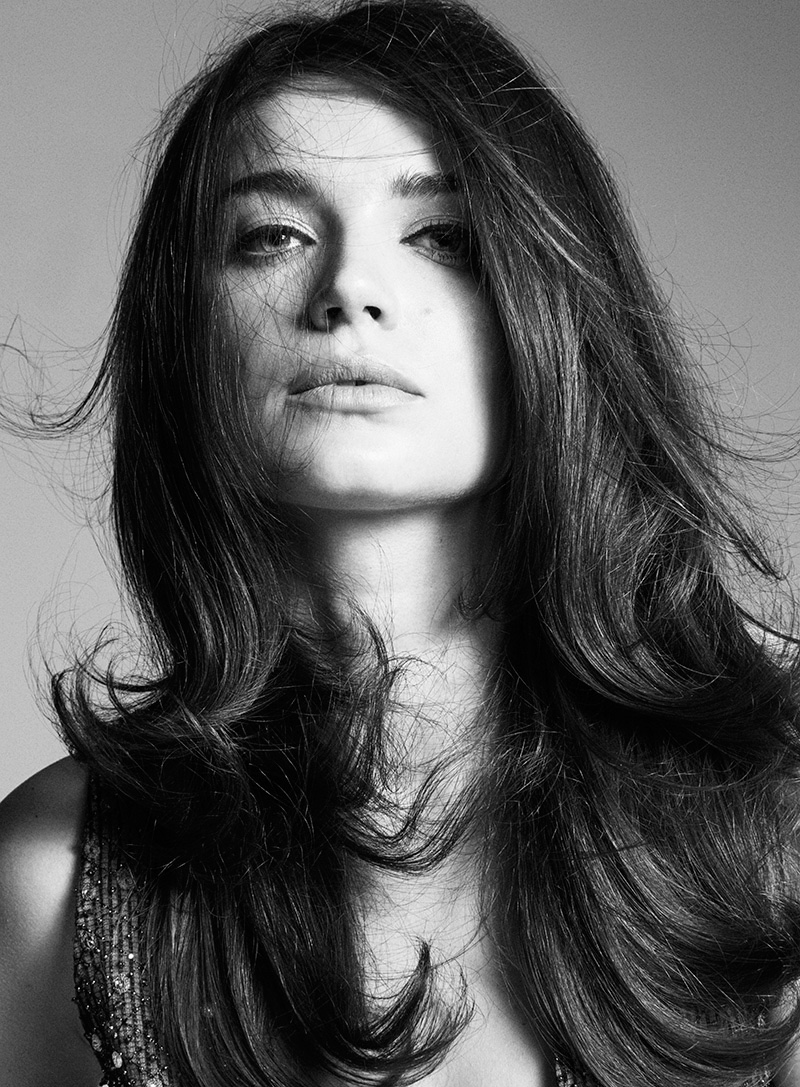 Photographed by Kerry Hallihan, Eve Hewson stuns in this black and white shot