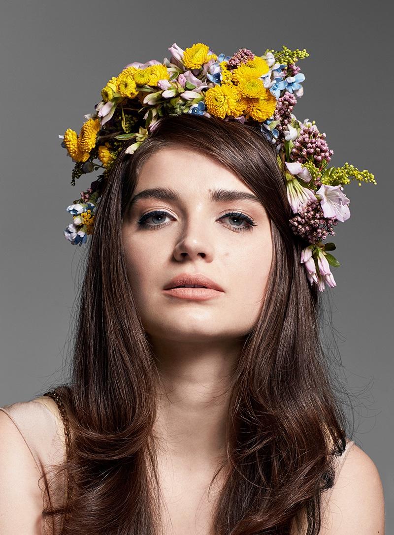Eve Hewson wears flower crown