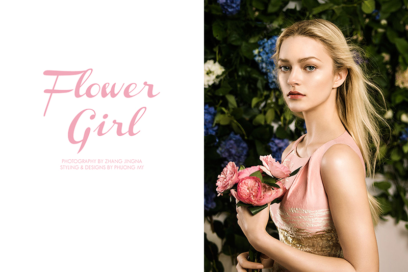 Sam Romberger stars in 'Flower Girl', a shoot photographed by Zhang Jingna and styled by Phuong My
