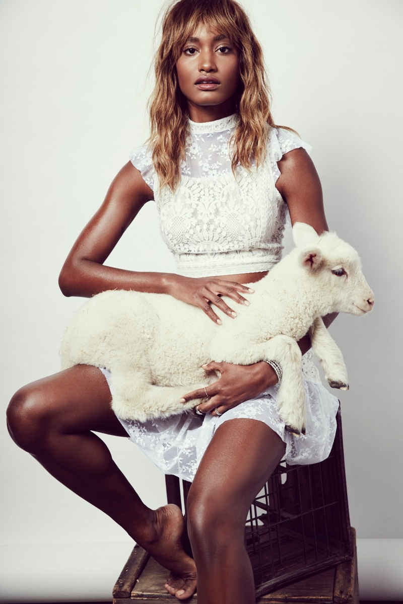 Melodie Monrose stars in For Love & Lemons' Summer Romance lookbook