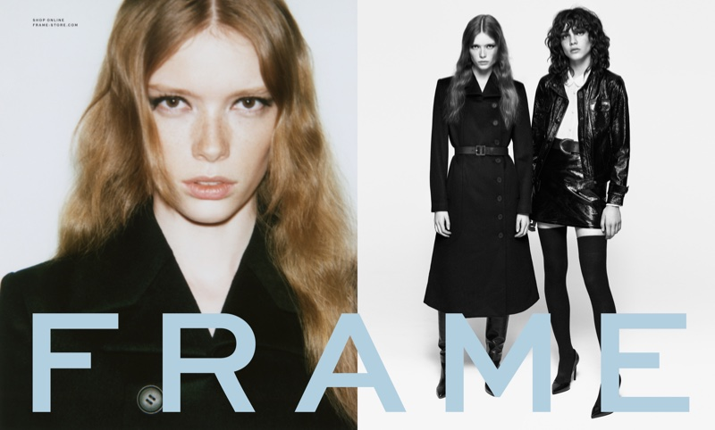 Julia Hafstrom and Steffy Argelich star in FRAME's fall-winter 2016 campaign