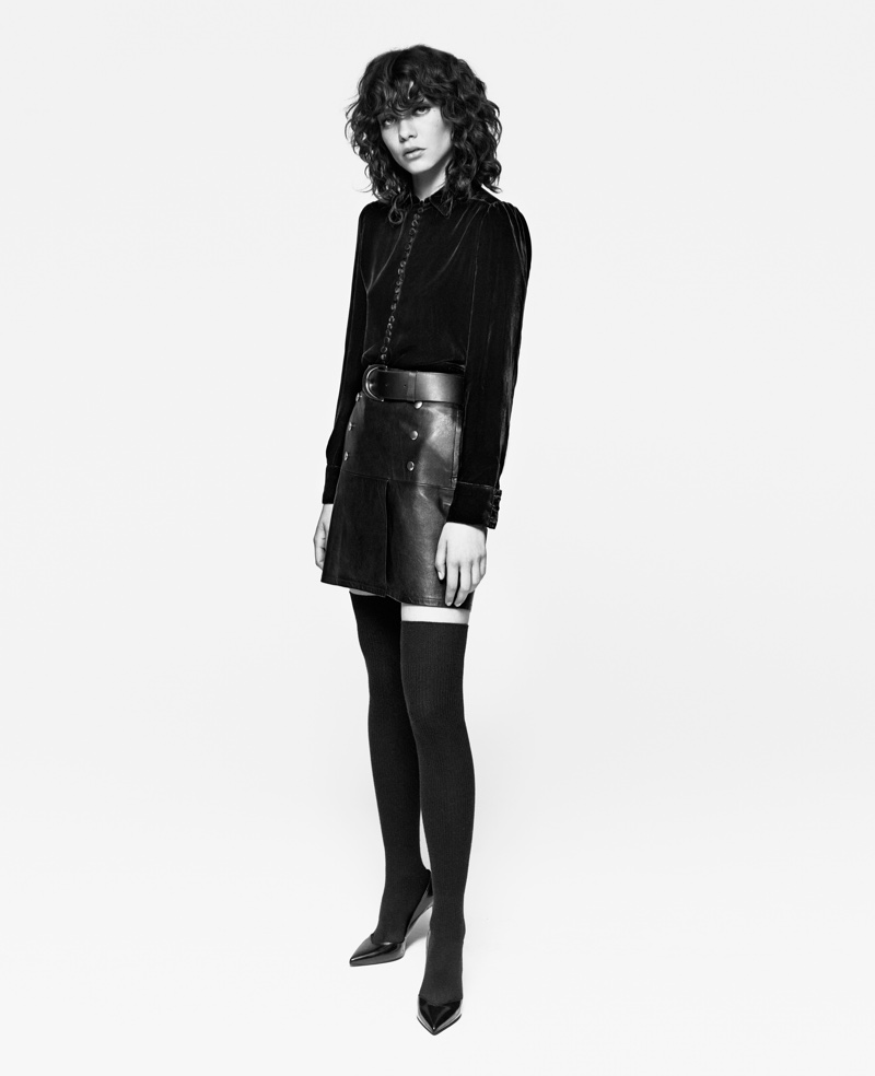 Steffy Argelich poses in FRAME's fall-winter 2016 campaign