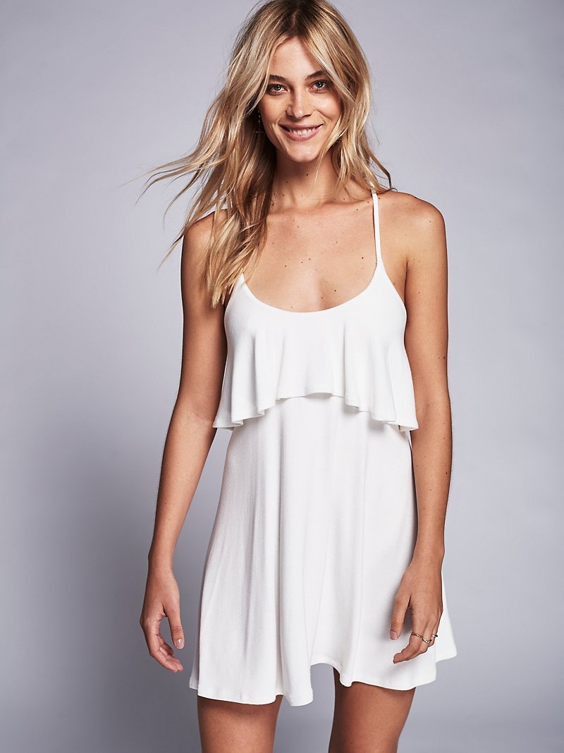 Free People Beach Bell & Whistles Mini Dress in White