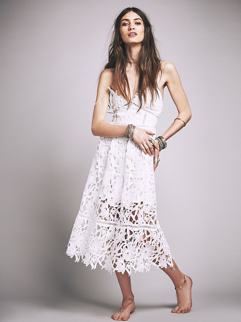 Free People South of the Equator Maxi Dress in White