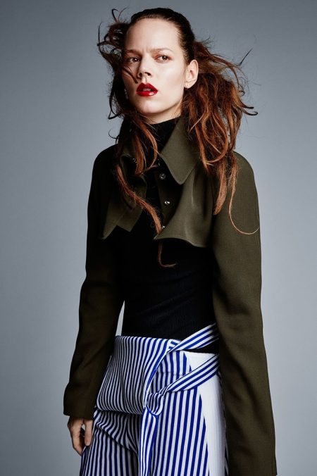 Freja Beha Erichsen Poses in Statement Making Styles for Vogue UK