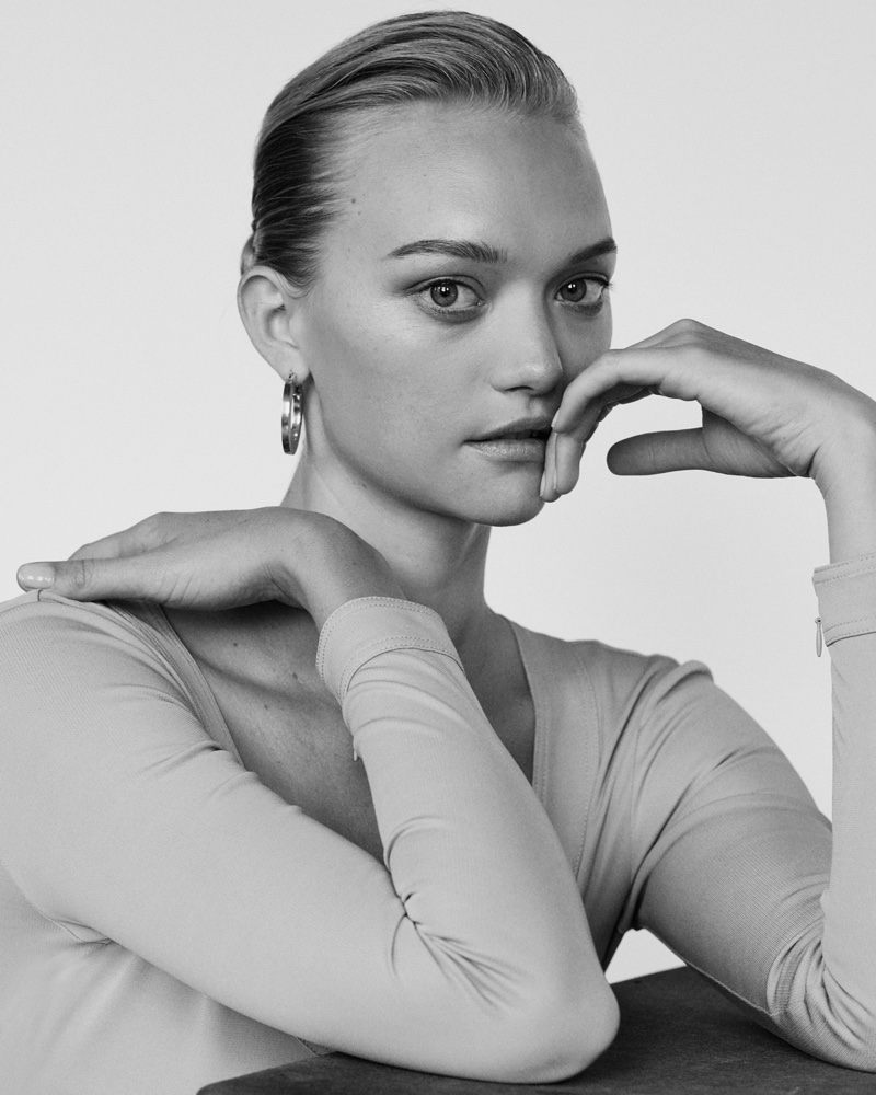 Gemma Ward wears Celine dress