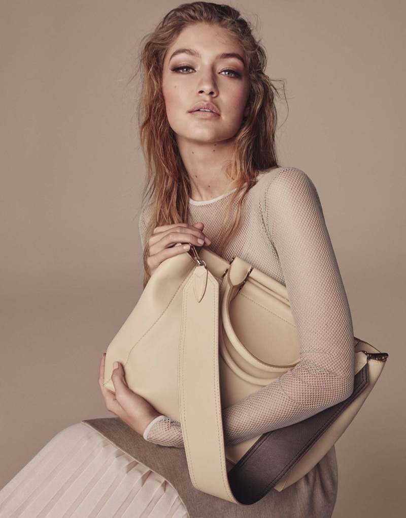 Gigi Hadid stars in Max Mara's fall-winter 2016 accessories campaign