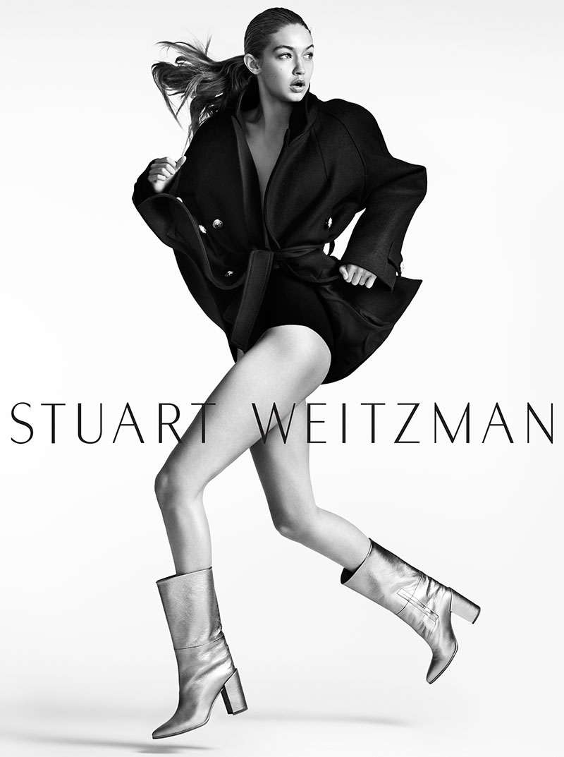 Gigi Hadid Makes Some Moves in Stuart Weitzman's Fall Ads