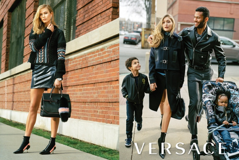 Gigi Hadid and Karlie Kloss star in Versace's fall-winter 2016 campaign