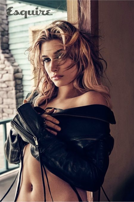 Hailey Baldwin Goes Blonde Bombshell for Esquire Feature