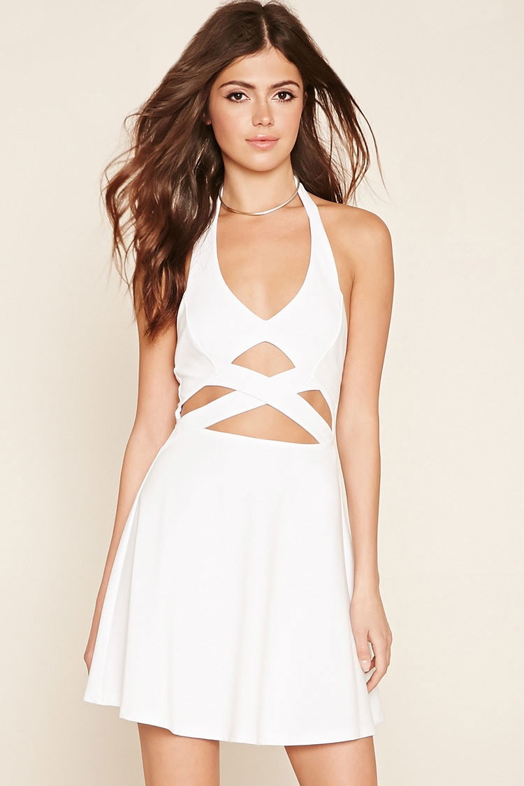 Forever 21 Halter Fit & Flare Dress