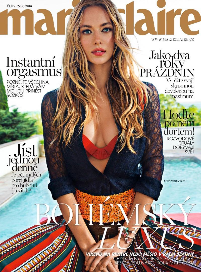 Hannah Ferguson on Marie Claire Czech July 2016 Cover