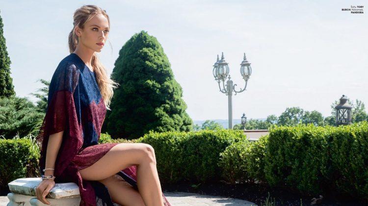 Hannah Ferguson Models Boho Styles for Marie Claire Czech