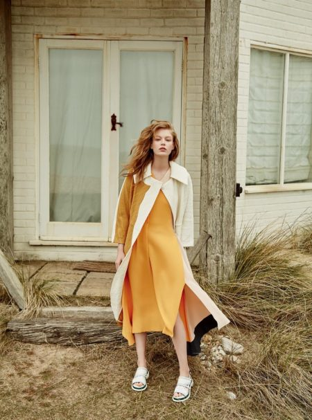 Hollie-May Saker Models the Pre-Fall Collections for Harper's Bazaar UK