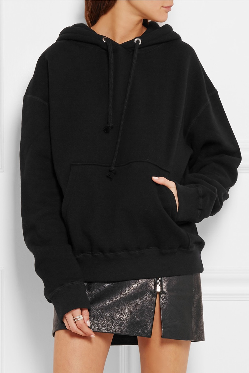 Anja Rubik x Iro Onassis Cotton Jersey Hooded Top