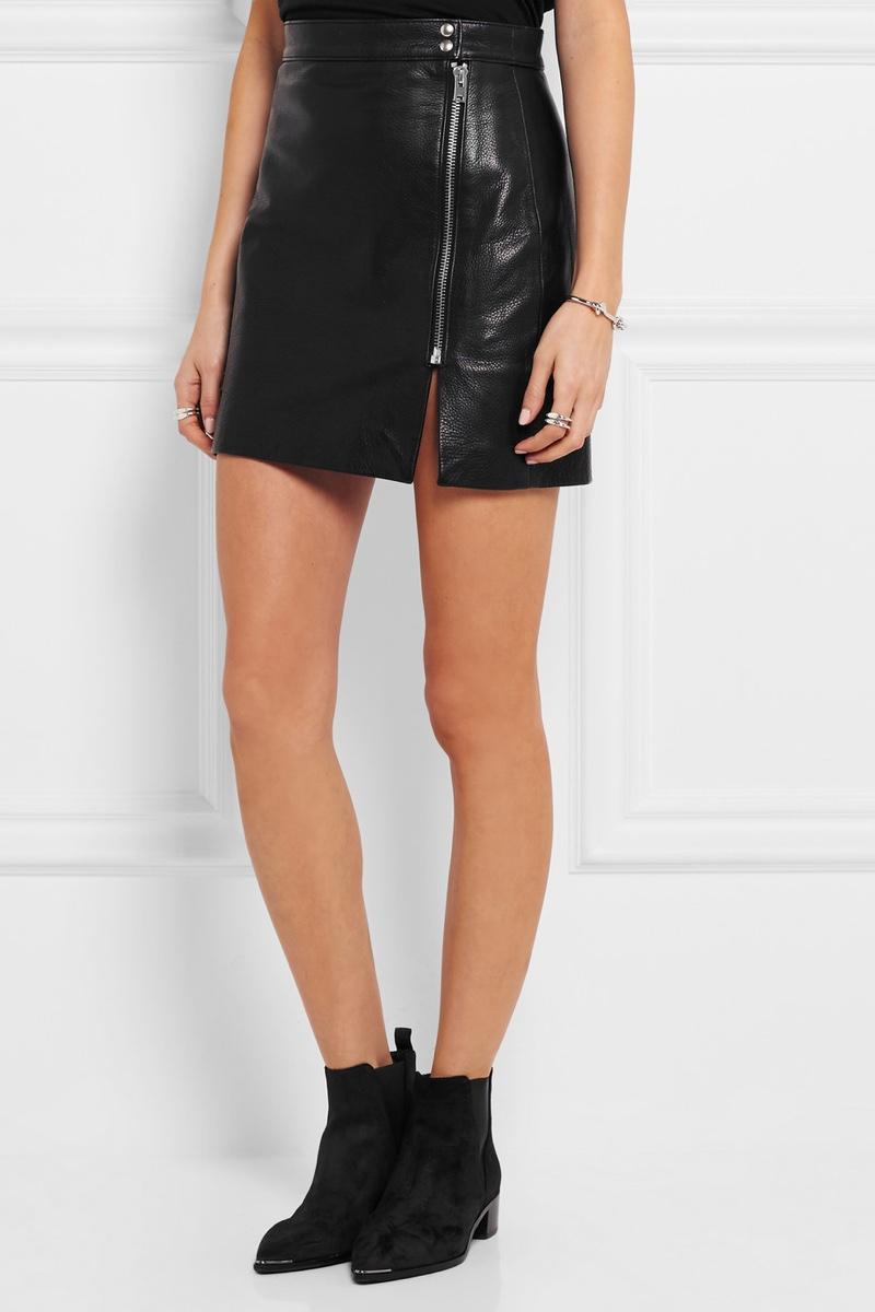 Anja Rubik x Iro Patti Textured Leather Mini Skirt