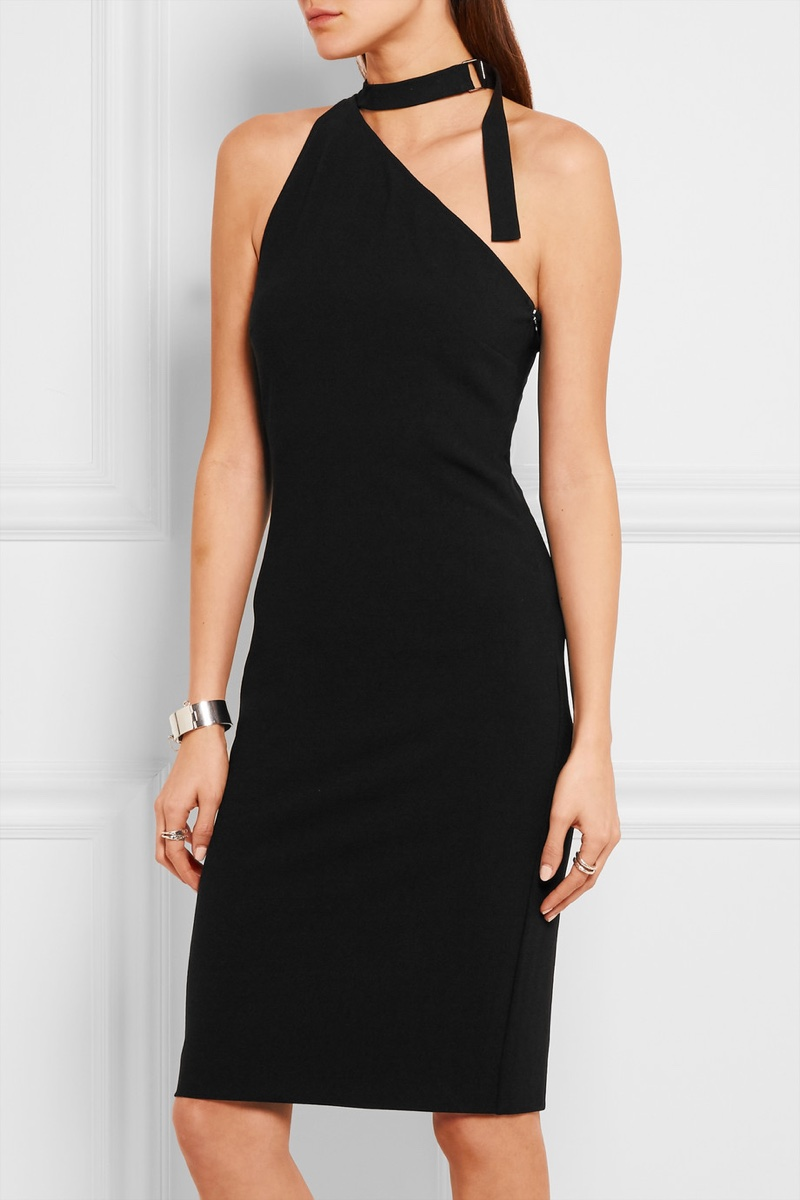 Anja Rubik x Iro Solly One-Shoulder Stretch Crepe Dress