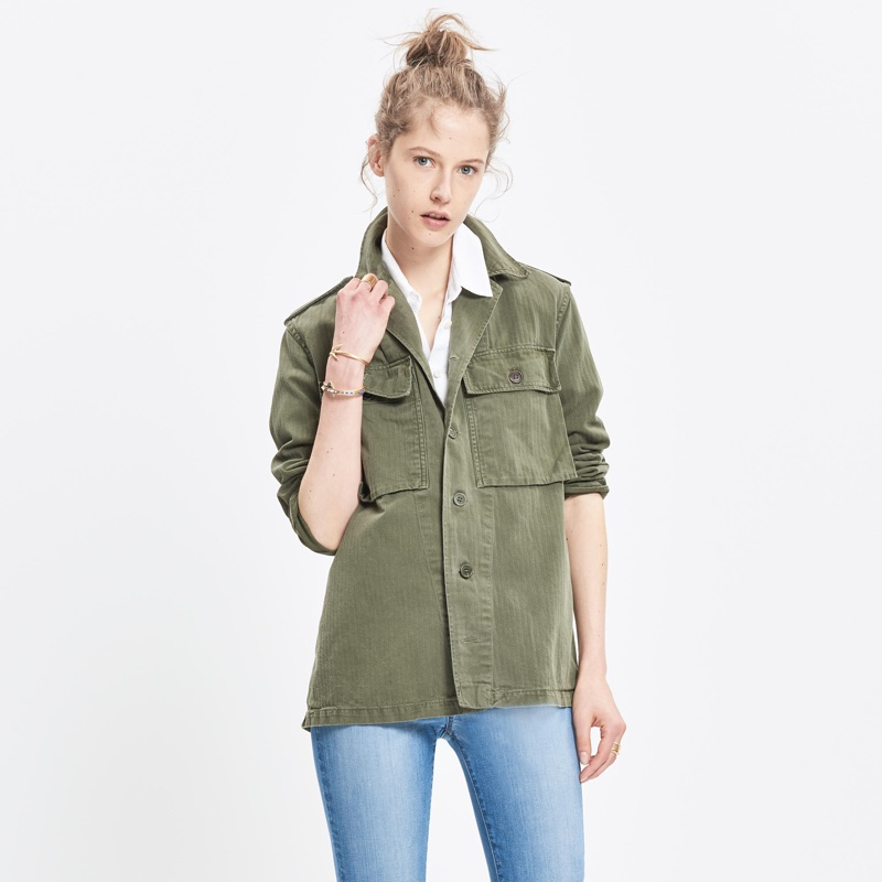 JM Drygoods Embroidered Vintage Army Jacket