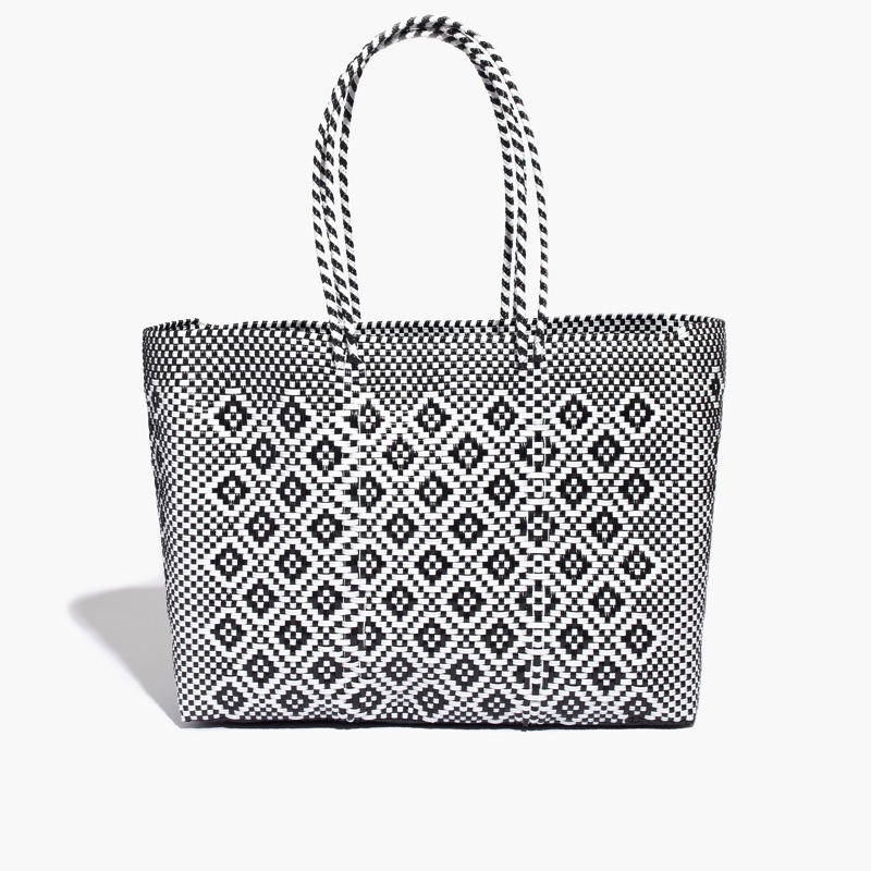 JM Drygoods Large Woven Tote Bag