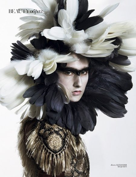 Jay Wright Models Seriously Stunning Makeup Looks for Vogue Ukraine