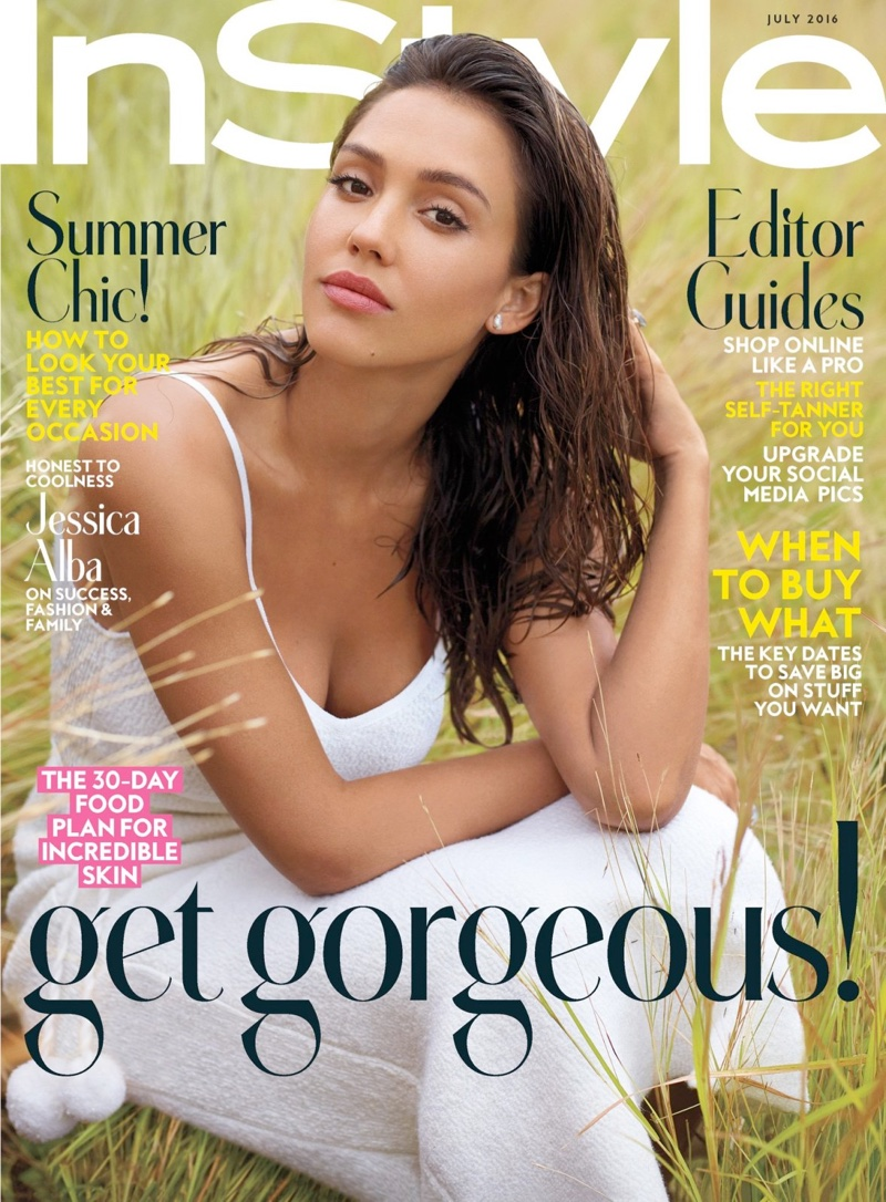 Jessica Alba on InStyle Magazine July 2016 Cover