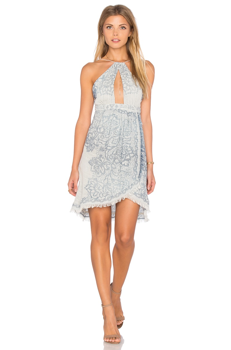 The Jetset Diaries Antigua Dress with Scarf Print