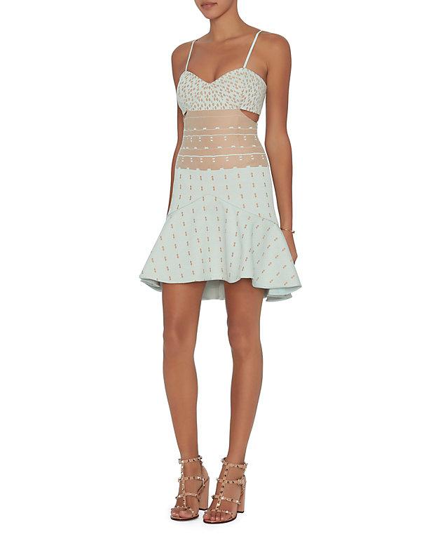 Jonathan Simkhai Cut-Out Bustier Dress