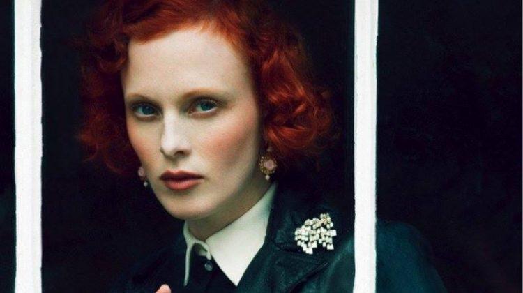 Karen Elson Models Enchanting Pre-Fall Looks for BAZAAR UK