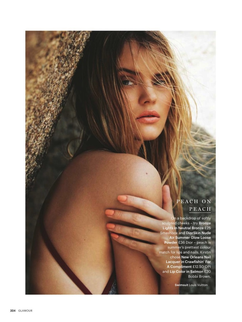 Kate Grigorieva wears summer makeup looks for the beauty editorial