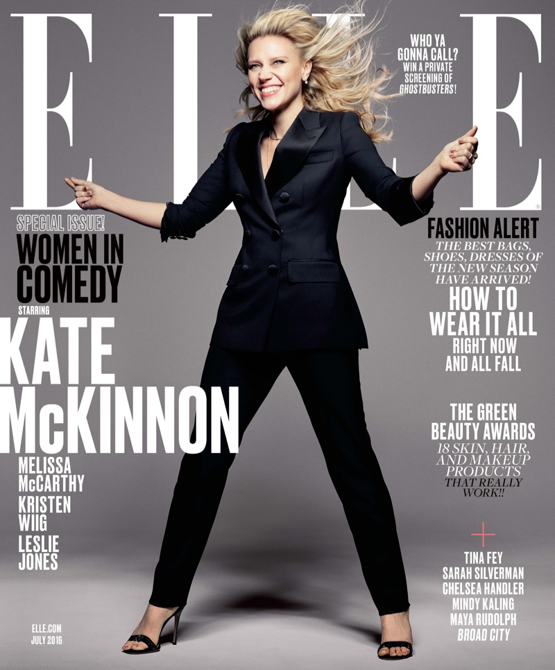 Kate McKinnon on ELLE Magazine July 2016 Cover