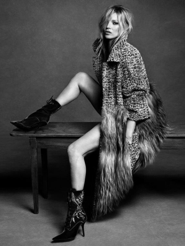 An image from Alberta Ferretti's fall-winter 2016 campaign starring Kate Moss