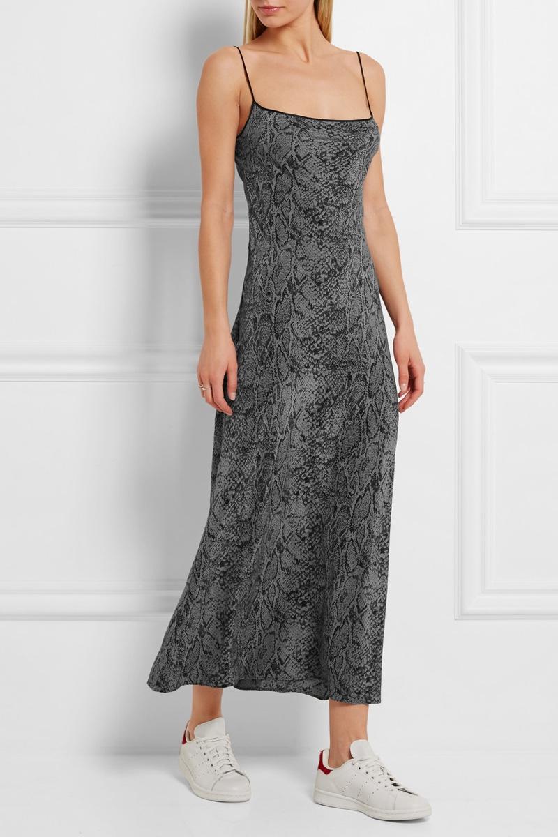 Kate Moss x Equipment Jessa Printed Washed Silk Maxi Dress