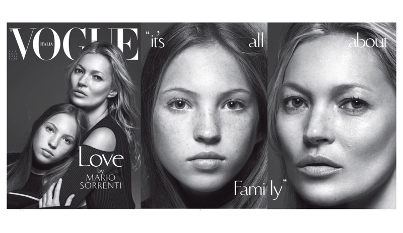 Kate Moss & daughter Lila Grace cover Vogue Italia June 2016 issue