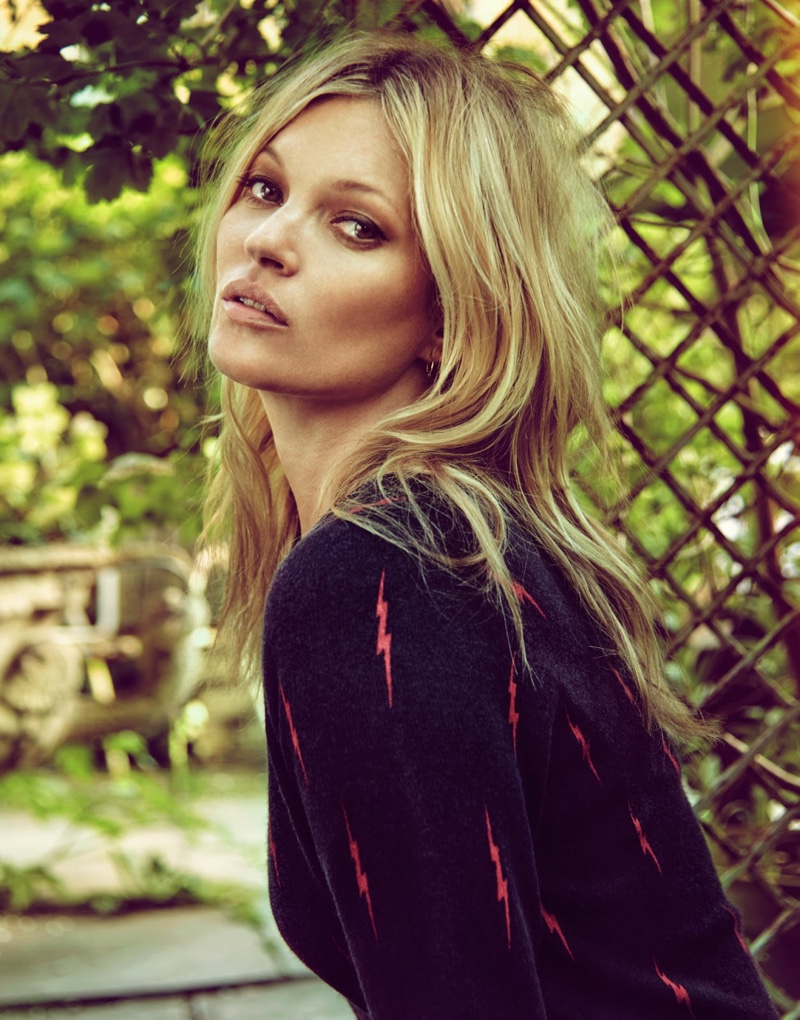 Kate Moss Models Her New Clothing Collab for The Edit