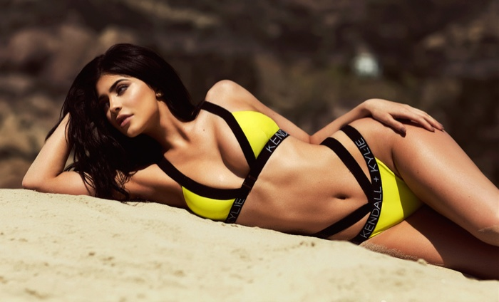 Kendall + Kylie Tape Bikini Top and Bottoms