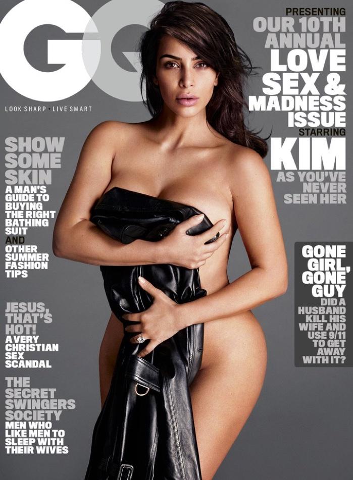 Kim Kardashian on GQ Magazine July 2016 Cover