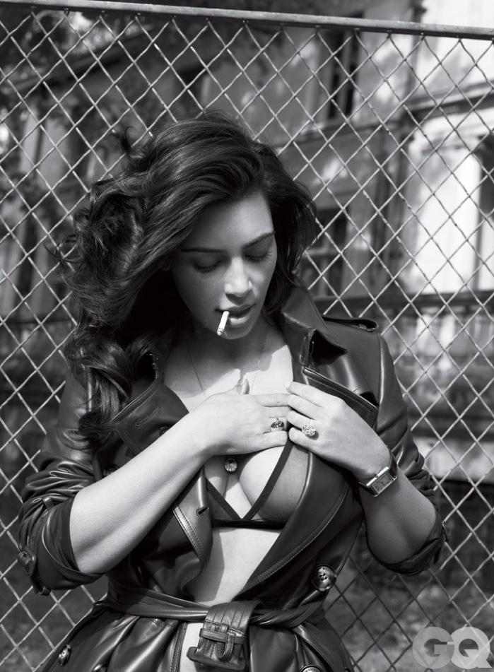 Posing with a cigarette, Kim Kardashian brings the heat for GQ