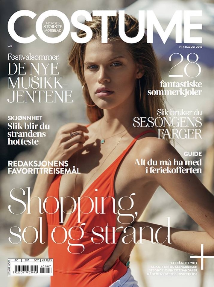 Kim Riekenberg on Costume Norway July 2016 Cover