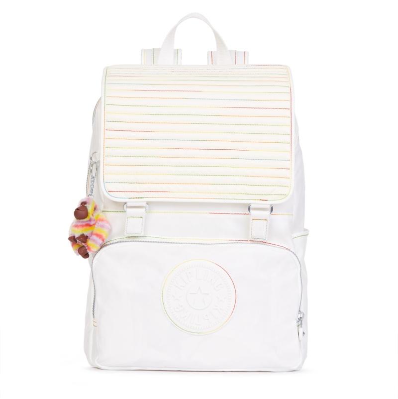 Kipling Washington Coated Laptop Backpack in White