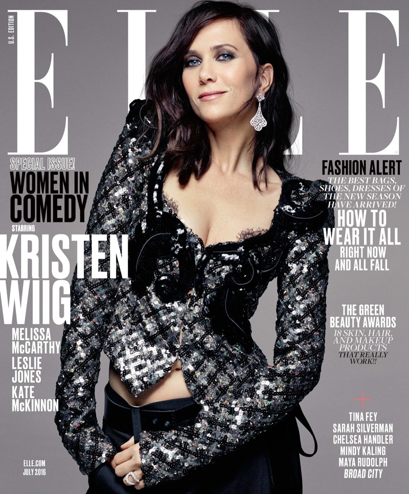 Kristen Wiig on ELLE Magazine July 2016 Cover