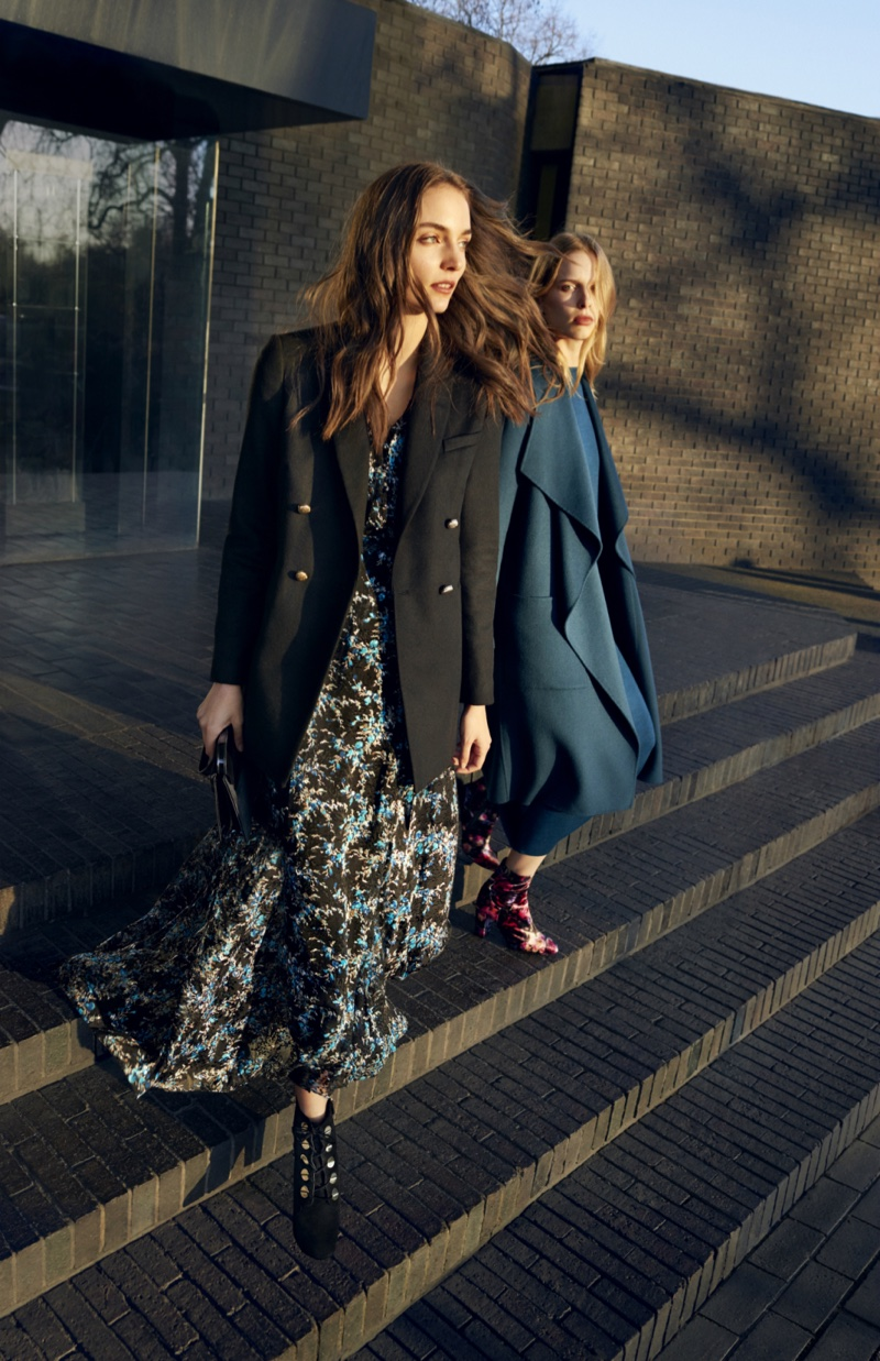 Lightweight outerwear featured in L.K. Bennett's fall-winter 2016 campaign