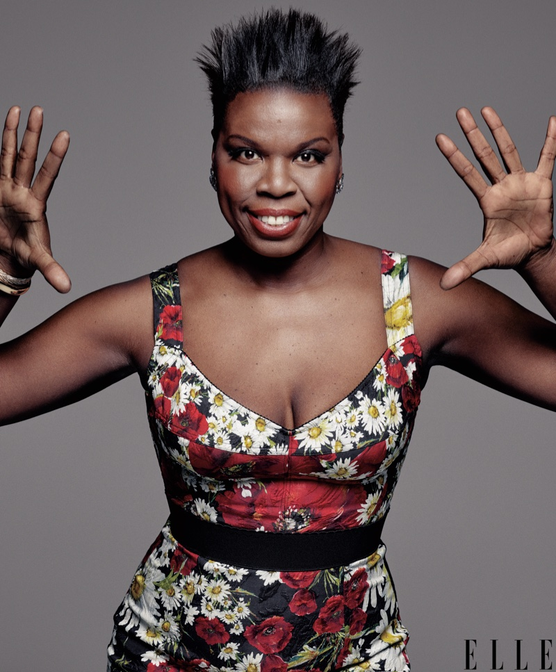 Leslie Jones poses in floral print dress from Dolce & Gabbana