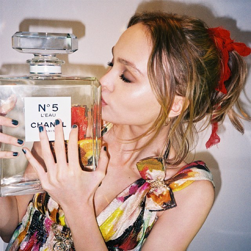 Chanel announces Lily Rose Depp as the face of its No. 5 L'eau perfume. Photo: Instagram/lilyrose_depp