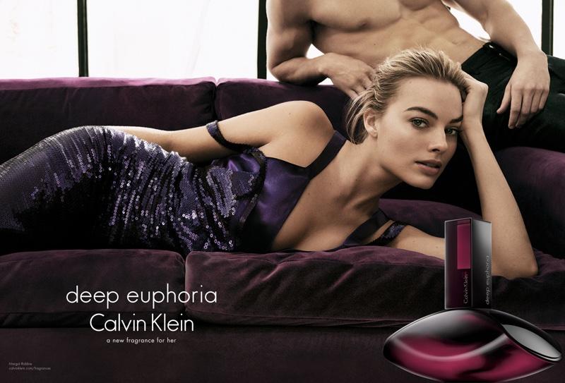 Margot Robbie appears in Calvin Klein's Deep Euphoria perfume campaign