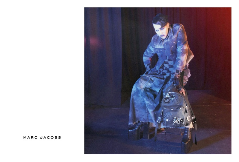 Marilyn Manson appears in Marc Jacobs' fall-winter 2016 campaign