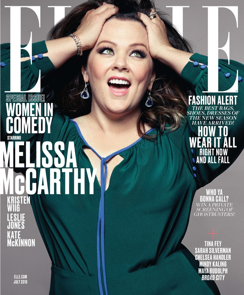 Melissa McCarthy ELLE Magazine July 2016 Cover
