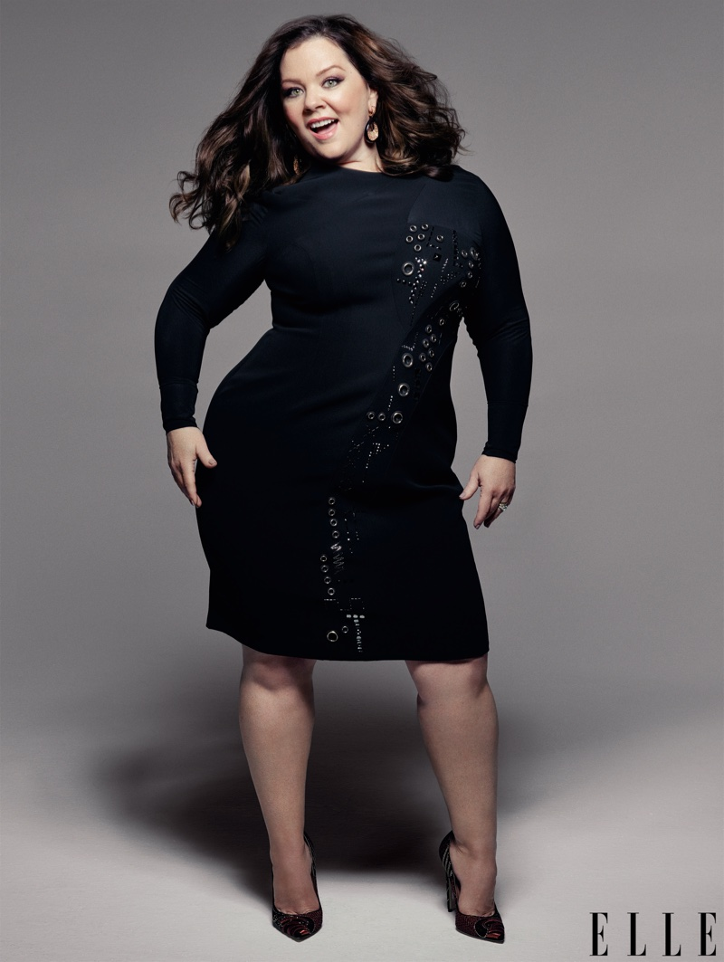 Melissa McCarthy is all smiles in Versace dress with Brian Atwood heels